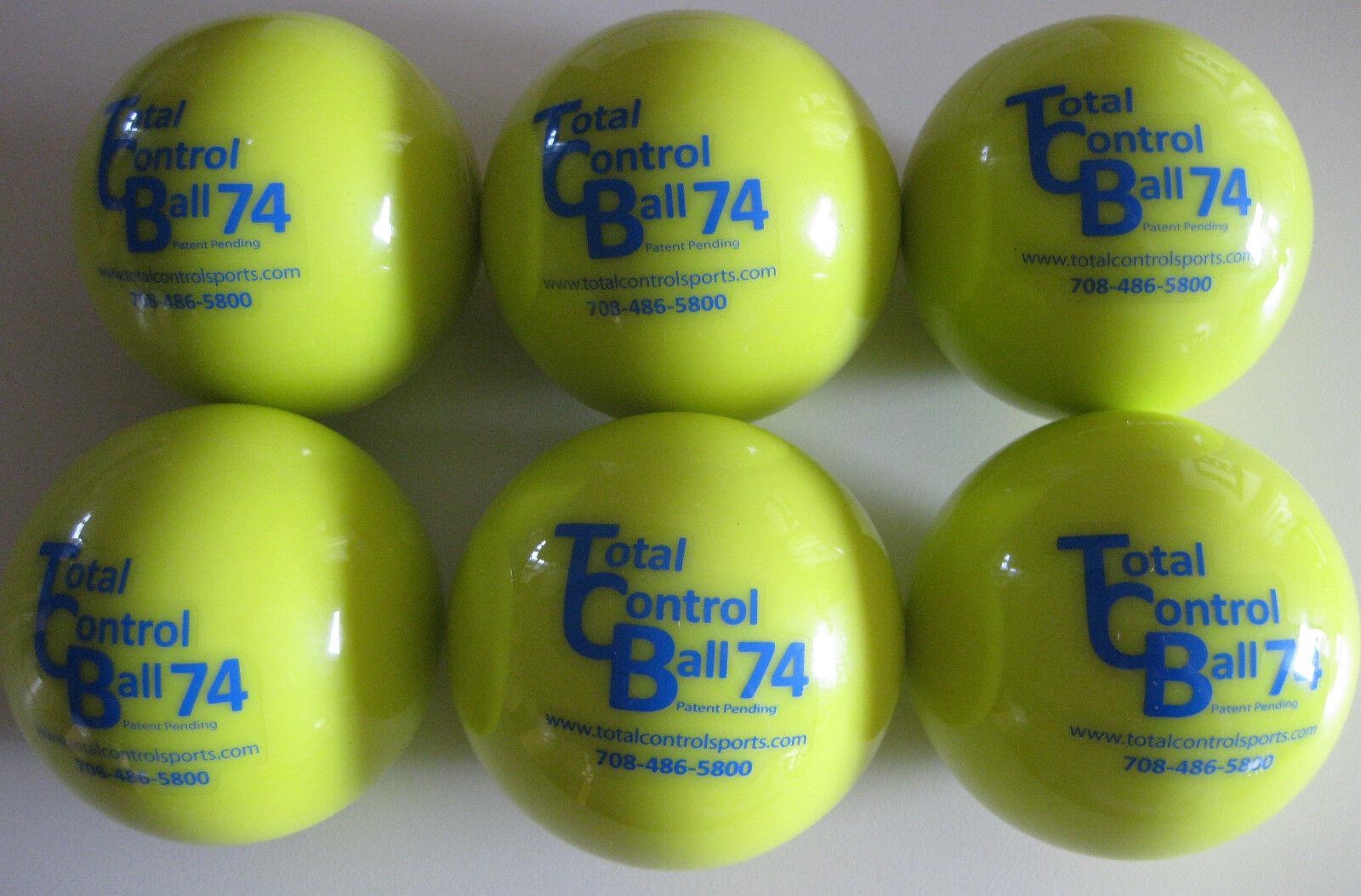 TOTAL CONTROL BALL TCB 74 Baseball Weighted Training Hitting Batting Aid  6 PK