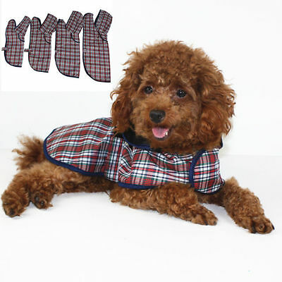 Pet Dog Raincoat Jacket Vest Puppy Dog Cat Waterproof Rain Coat Plaid Cloaks