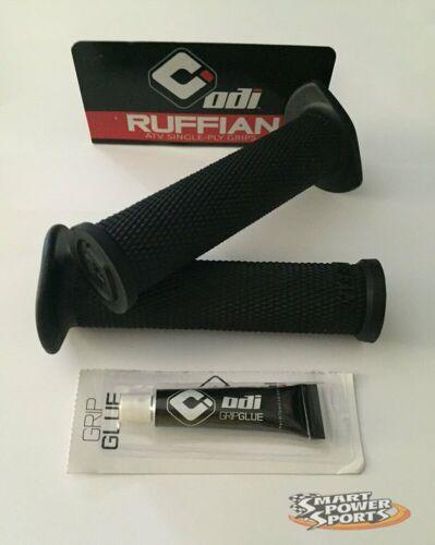 MADE IN USA BLACK WITH GLUE ODI Ruffian ATV Handlebar Grips 4-wheeler ATV