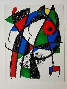 Joan Miró-ORIG. farblithographie I-Da litografo Tipografo II 1953 - 1963