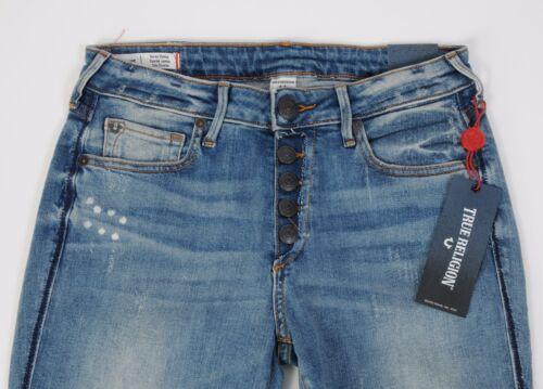 Expsd Mager Curvy Super True Button 28 Størrelse Fly Nye Jennie Jeans Religion qwzXnx1