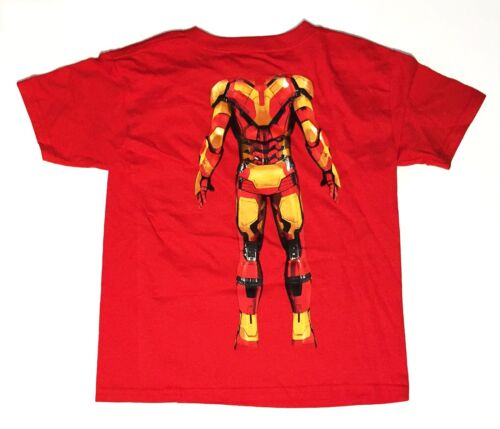 Iron Man 3 Two Sided Youth Medium 8 T-Shirt Red Graphic Tee