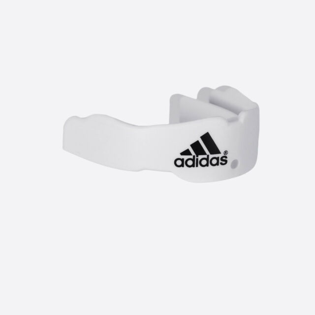 Boxing Mouth Piece Adidas White TaeKwonDo PROTECTOR guard TKD MMA gear with case