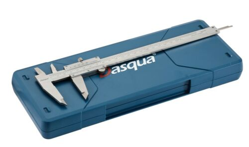 "1550-2010 DASQUA 0-200MM 0-8/"" STAINLESS STEEL VERNIER CALIPER"