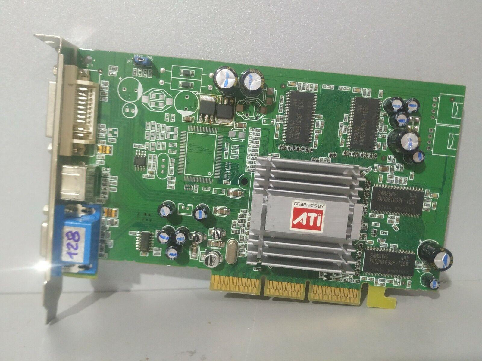 ATI Radeon 9250 128Mb AGP video card, working condition!!!