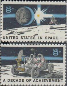EEUU 1046-1047 (completa edición) usado 1971 éxitos en espacio