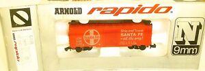 Santa-Fe-Wagon-de-Marchandises-Rouge-Vif-arnold-Rapido-0414-N-1-160-Ovp-HU3-A