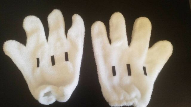 Minnie Mickey Mouse Gloves Pair Costume Cosplay Party Men Women Gloves Plush