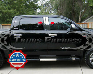 2007-2019-Toyota-Tundra-Crew-Max-Cab-Chrome-Pillar-Post-Stainless-Steel-Trim-4Pc
