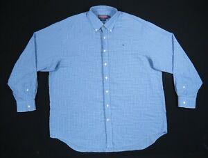Vineyard-Vines-Blue-Plaid-Long-Sleeve-Button-Down-Whale-Shirt-Mens-XL-Logo-Whale