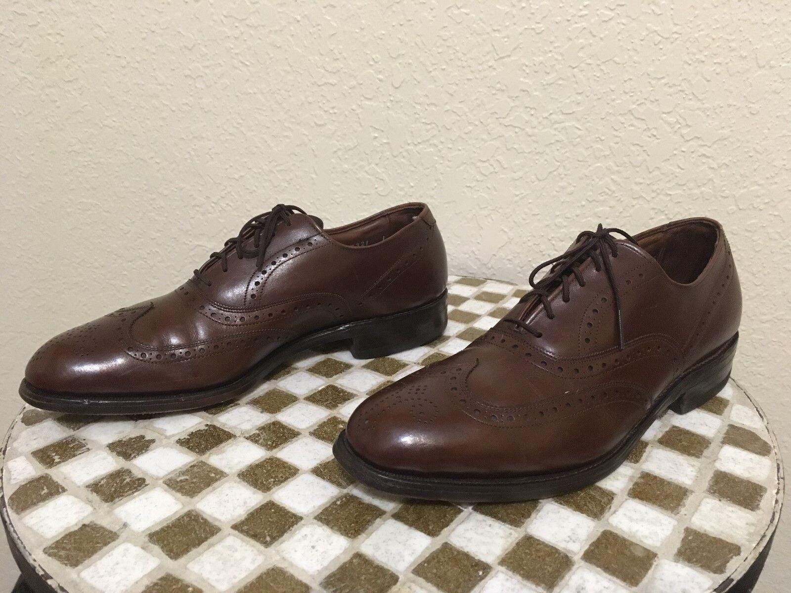 alta qualità genuina USA ALLEN EDMONDS Marrone WING TIP scarpe scarpe scarpe 8 C  risparmia il 60% di sconto e la spedizione veloce in tutto il mondo