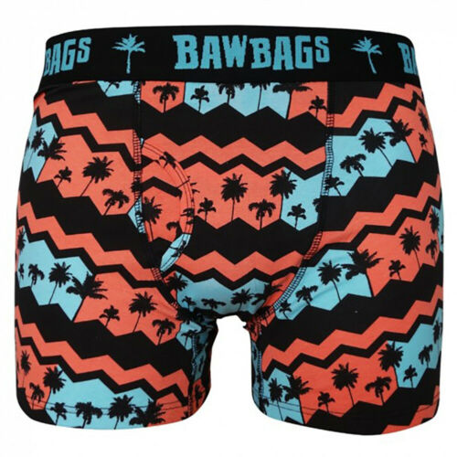 Bawbags NEW Men/'s Palmy Boxer Shorts Red BNWT