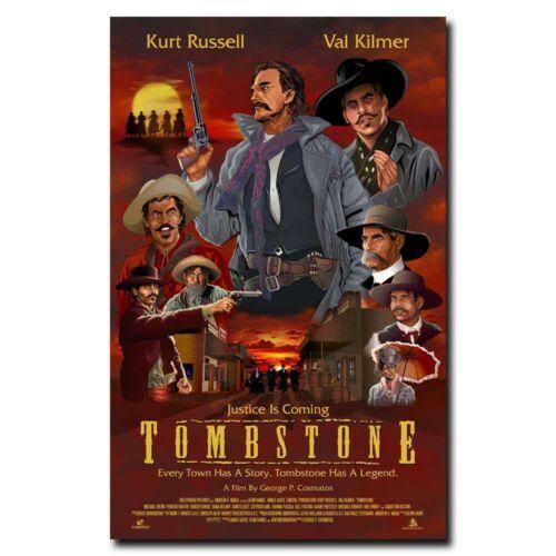 Tombstone 12x18 24x36inch Kurt Russell Movie Silk Poster Wall Door Decals