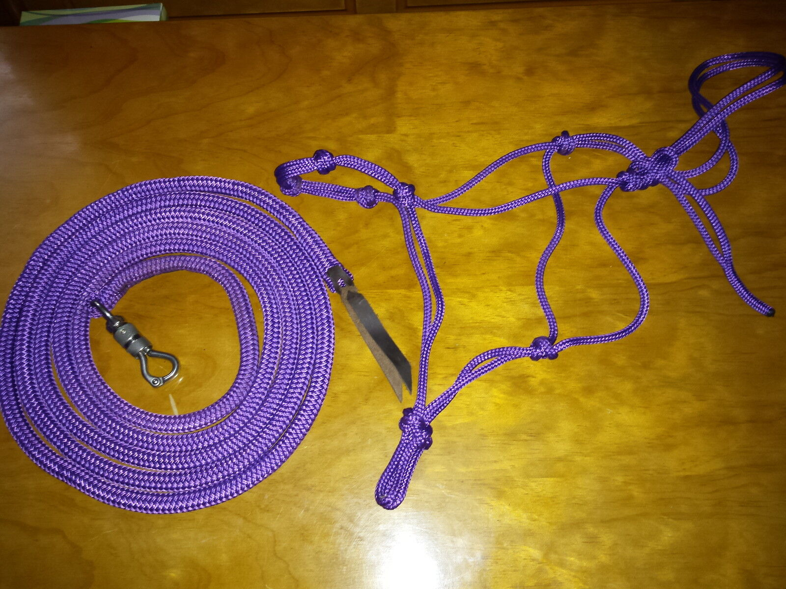 SOFT 4-KNOT HALTER, 12' LEAD ROPE W TWIST SNAP FOR ANDERSON & PARELLI TRAINING