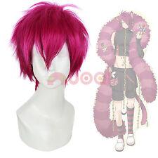 Wonderful Wonder World Mens Boris Airay Straight Short Rose Red Cosplay Full Wig