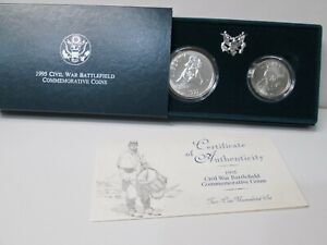1995 Civil War Battlefield Uncirculated HALF Dollar Commemorative w//Box and COA