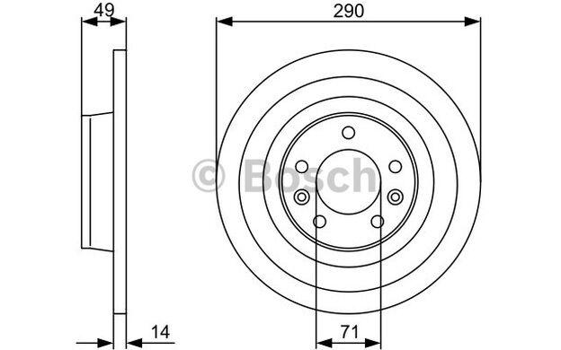 BOSCH Juego de 2 discos freno 290mm PEUGEOT EXPERT CITROEN FIAT 0 986 479 379