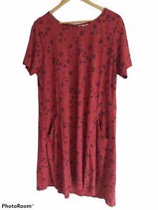 Fat Face Women's Ladies Simone Dress Size 16 Tunic Jersey Silhouette Ditsy
