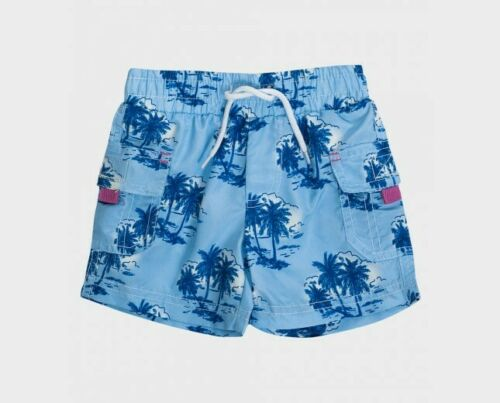 Minoti Basy Boys Printed Swimming Shorts Sky /& Navy Size 6 Months To 3 Years New