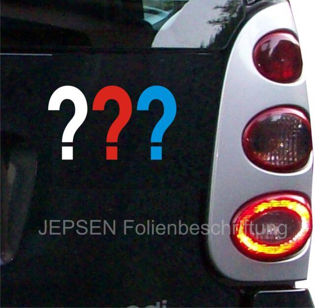 Drei Fragezeichen CARTATTOO Aufkleber für Auto ca 20x12cm Autoaufkleber