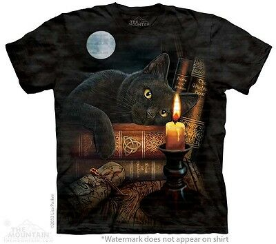 The Witching Hour T-Shirt by The Mountain. Magicians Black Cat Full Moon S-5XL
