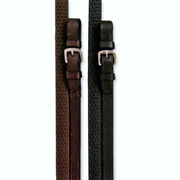 NEW Nunn Finer Soft Grip Reins - Havana