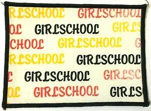 GIRLSCHOOL-Old-OG-Vtg-70-80-s-Large-Printed-Patch-Sew-On-NOT-shirt-badge