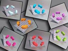 FARBAUSWAHL Macaroni 48092 LEGO 4x Viertelstein 4x4 Noppen