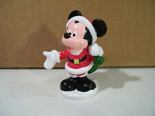 DISNEY MICKEY MOUSE SANTA CLAUS PVC FIGURE, CHRISTMAS HOLIDAY
