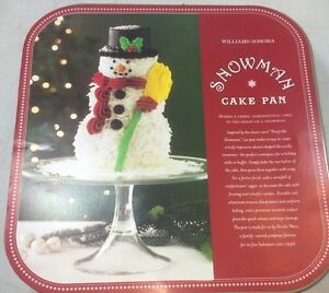 Nordic Ware Williams Sonoma Winter Snowman Cake Mold Pan