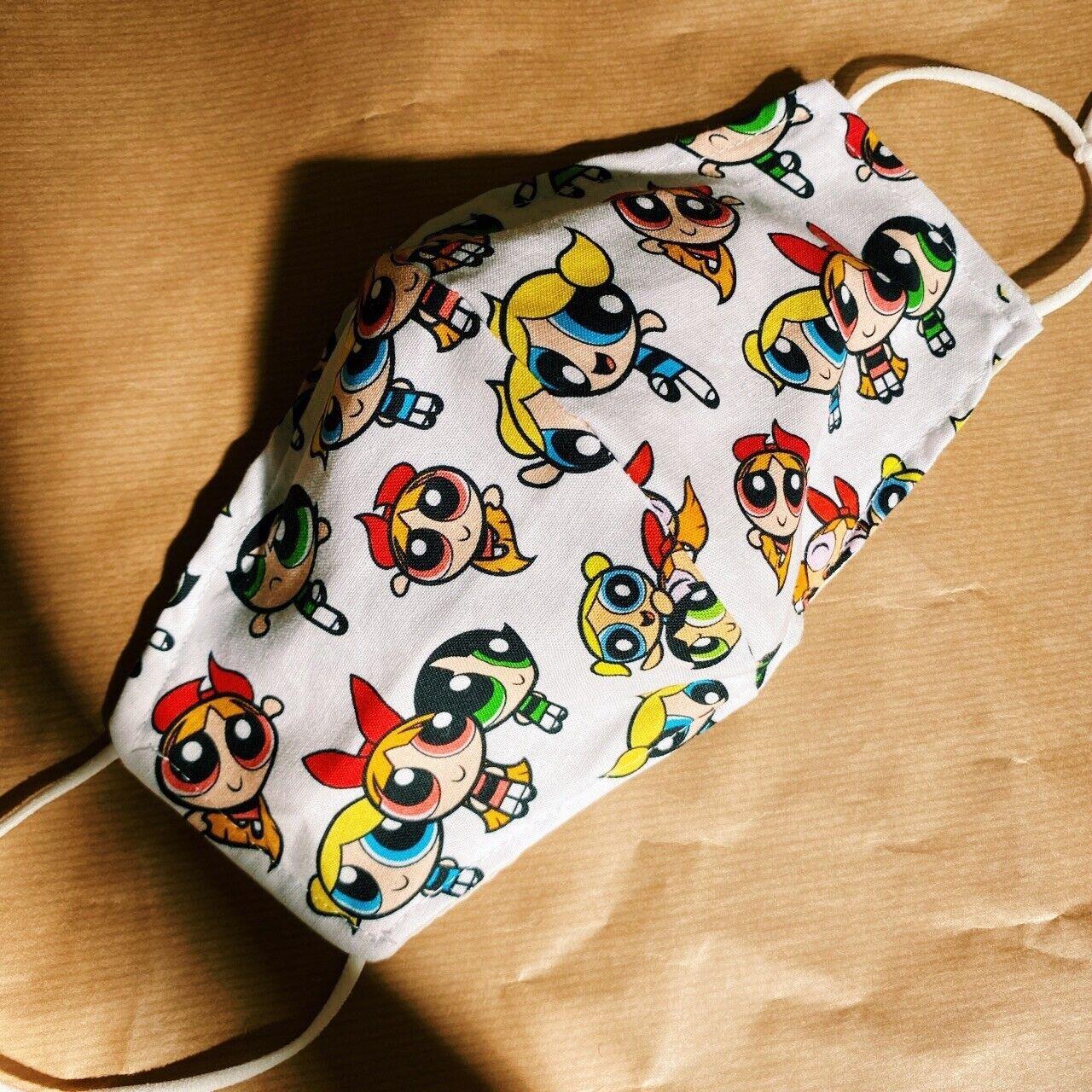 ☁️ Hand Made Powerpuff Girls 100% Cotton Mask