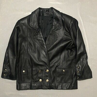 Green Vintage Faux Leather Jacket From The 80s Size S M