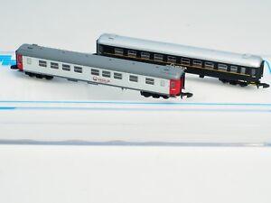 Two-each-FR-Z-scale-NetRail-Veolia-litt-B05-B04-passenger-cars-Swedish-RR