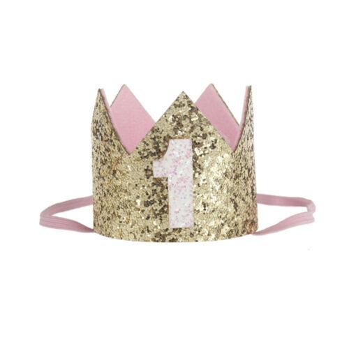 B2F3 Princess Crown Headband Number 1 2 3 Birthday Hat For Boys//Girls Decoration