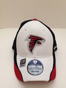 56f3409e Details about Atlanta Falcons Reebok 12th Man stretch fit hat  White/Black/Red S/M