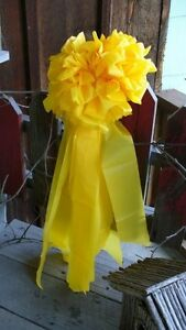 YELLOW RIBBON BOW  ~ Military Troops, outside ~ at least 12 inches in diameter
