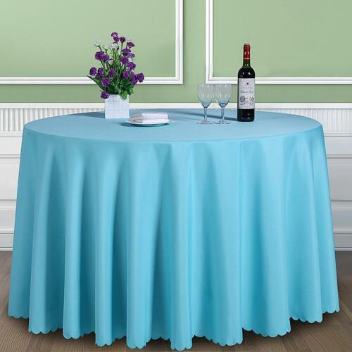 Rectangle Round Tablecloth Table Cover Plain Fabric Cloth Banquet Wedding Cafes