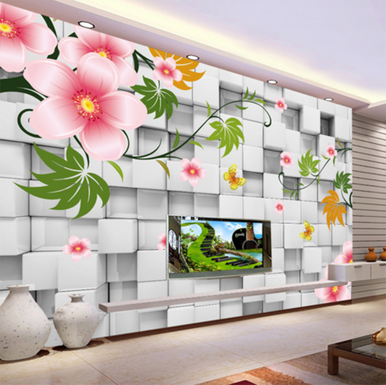 3D Flower Vine 587 Wallpaper Murals Wall Print Wallpaper Mural AJ WALL AU Kyra