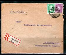 EINSCHREIBEN 1928 gelaufen R-Zettel Deutsches Reich ROSTOCK OLDENBURG Bedarf