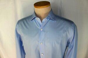 ISAIA-Napoli-luxury-Sartorial-Sport-Shirt-16-034-Neck-Baby-Blue-Neiman-Marcus