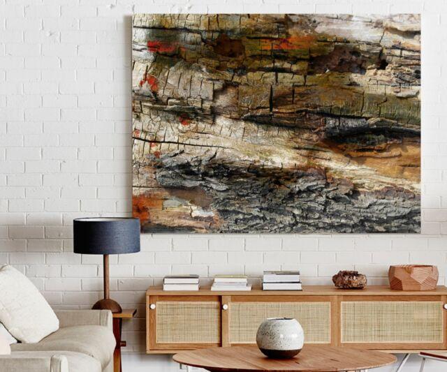 XXL IMAGE DE TOILE 150x100x5 MARRON BOIS NATUREL ABSTRAIT PEINTURES IKEA PREMIÄR