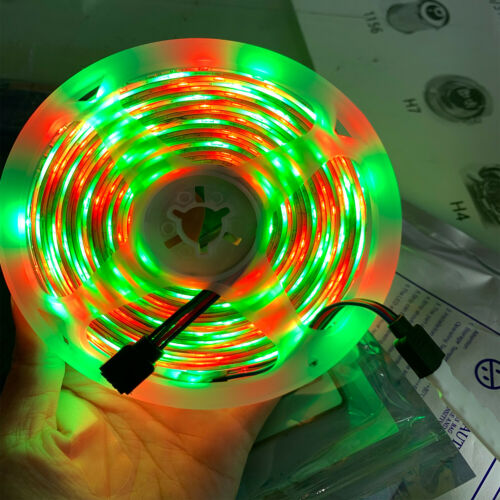 16ft Flexible 3528 RGB LED SMD Strip Light Remote Fairy Lights Room TV Party Bar