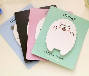 2 Cute Sheep Panda Memo Pad Sticky Notes Notepad School Office Supply Stationery