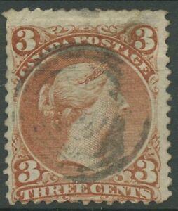 Canada 1868 Regina Viktoria 3 cent, 20 timbrato, piccoli errori