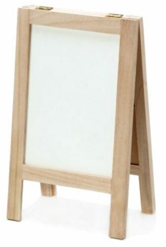 Chalkboard and Whiteboard Easel - Wood Easel with Dry Erase and Black Board Side