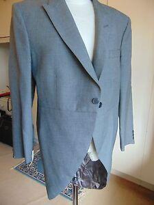 Vintage-slate-grey-morning-tail-coat-wedding-Ascot-formal-wear-41XS-Willy-Wonker