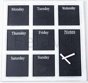 Agenda-Semanal-Memo-Board-Pizarra-Tiza-Pared-Shabby-Chic-Posten-Panel-Veces