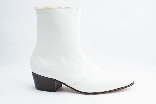 1960s Style Men's Clothing, 70s Men's Fashion    White Boots for Elvis Jumpsuit Costume - 100% Leather $129.99 AT vintagedancer.com