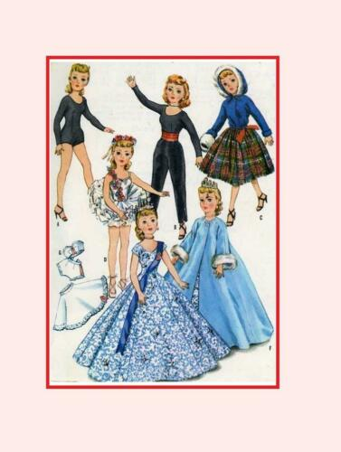 "Doll Clothes Pattern 18/"" Little Miss Revlon Toni Ginger Cindy Adams Missy 2255"