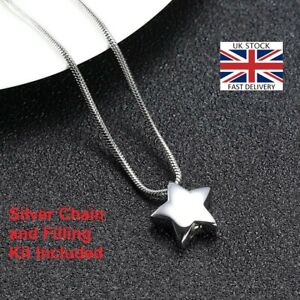 Mini-Star-Keepsake-Cremation-Urn-Pendant-Ashes-Necklace-Funeral-Memorial